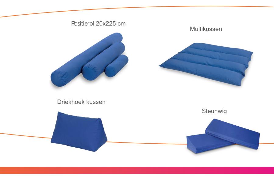 Positionering sacrum,knieën en hielen 6